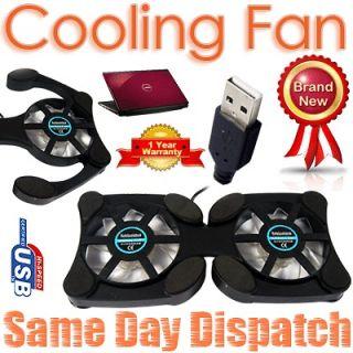 USB Cooler Hi Cooling Pad 2 Fans For Laptop Notebook PC