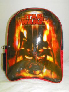 NWT New Full Sized Star Wars Darth Vader Backpack 16