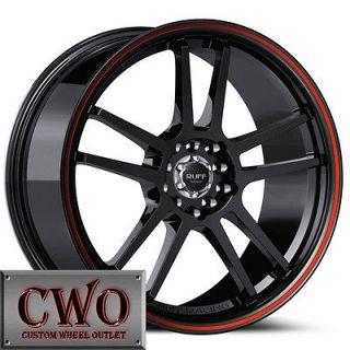 Black Ruff R354 Wheels Rims 4x100/4x114.3 4 Lug Civic Integra Accord