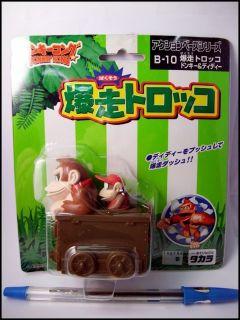 Takara Jp Nintendo Orginal Donkey Kong & Diddy Figure Pullback Choro Q