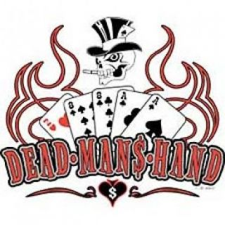 ACES AND EIGHTS DEAD MANS HAND POKER T SHIRT BLACK