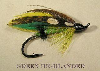 Green Highlander  Full Dress 1/0 Salmon Flies