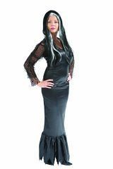 Black Morticia Addams Family Halloween Fancy Dress 8 10