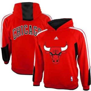 adidas Chicago Bulls Youth On Court Pullover Hoodie   Red