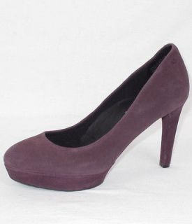 Rockport Adiprene By Adidas Womens Purple Suede High Heels Shoes Sz. 8