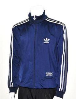 Adidas Originals Navy Blue Ultrastar Track Stripes Mens Top Jacket