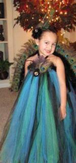 Peacock Tutu Dress Peacock Halloween Costume baby adult
