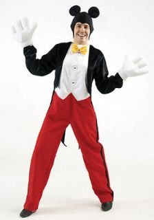 Adult XL Licensed Disney Mickey Mouse Outfit Fancy Dress Costume Mens