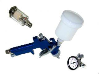 HVLP Air Touch up Spray Gun + Water & oil Separator + Air regulator