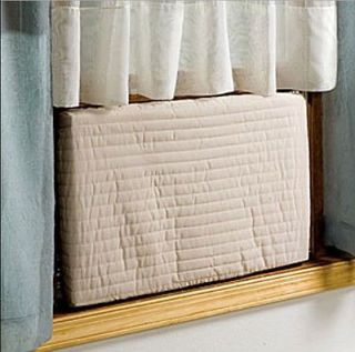 Indoor Air Conditioner Cover, Quilted Elasticized Covers, Protect Air
