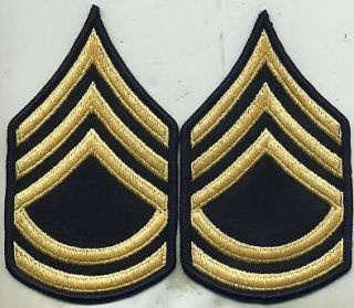 Vietnam Era US Army Sergeant 1st Class Dress Blue Stripes Patch Pair