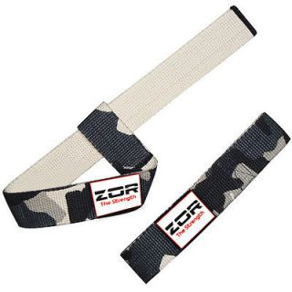 Camouflage Power Hand Bar Straps Weight Lifting Cotton Straps