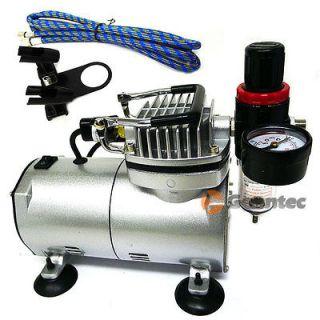 Air Brush Compressor / Air Regulator Gauge & Water Trap Filter + Brush