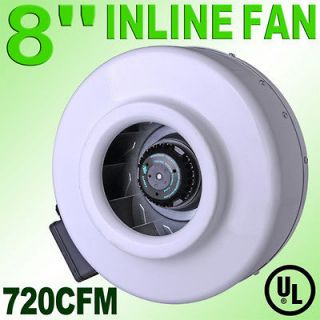 Inline Duct Exhaust Fan Air Blower Hydroponics Cooling Vent HO 2420RPM