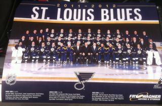 2011 12 St Louis Blues Team Poster SGA 24X17