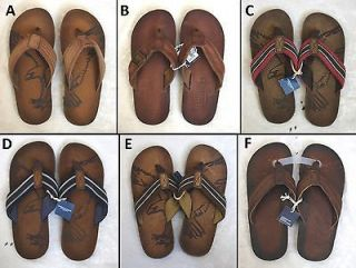 ONE PAIR NEW AMERICAN EAGLE MEN LEATHER SANDALS FLIP FLOPS SIZE 8, 9
