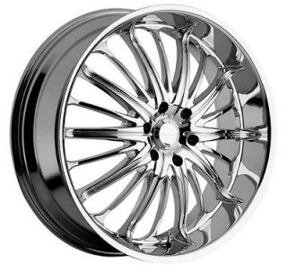 28 inch Akuza belle chrome wheels rims Tahoe Avalanche Suburban Yukon
