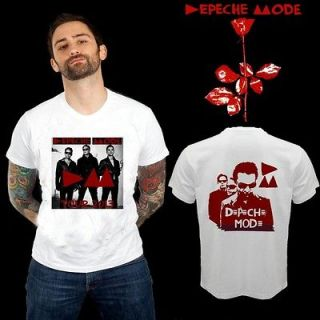 NEW DEPECHE MODE ON TOUR 2013 PERSONEL TWO SIDE WHITE TEE SHIRT S,M,L