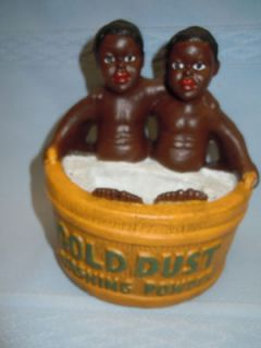 Chalkware Gold Dust Twins Black Americana Figurine Sign