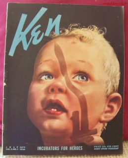 Vintage Ken Magazine 7 14  38 Political Topics Incubat ors for Heroes