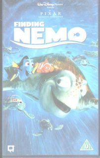 FINDING NEMO VIDEO VHS PAL UK WALT DISNEY PIXAR