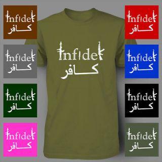 INFIDEL AK 47 RIFLE ak47 usmc army sniper military Mens T Shirt