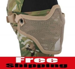 HALF FACE METAL MESH PROTECTIVE MASK AIRSOFT PAINTBALL