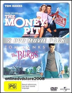 The MONEY PIT & BURBS (Tom HANKS) Double COMEDY Movie Pack (2DVD SET