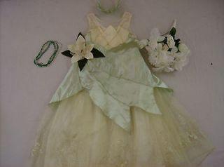 Disney Princess Tiana costume girl dress up L 9 10 11 Deluxe