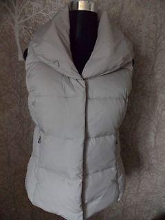 Ralph Lauren Womens Down Puffer Silver Alfred Vest   Small 10 UK