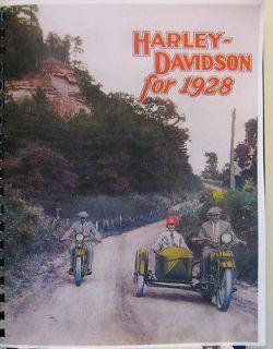 Harley Davidson Motorcycle & Sidecar Sales Brochure Showing All Models