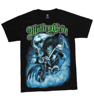 Motley Crue Biker Allister Fiend Metal Rock Band Adult T Shirt Tee