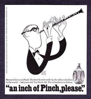 1967 Big Band Benny Goodman by Al Hirschfeld Haig & Haig Pinch Scotch