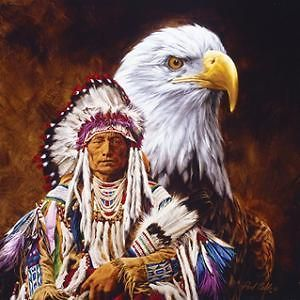 Spirit of the Eagle Native American 500 Piece Jigsaw Puzzle SunsOut