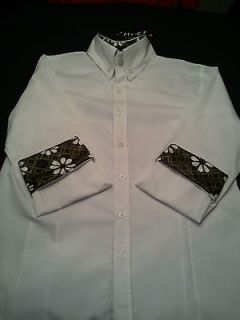 Casual Slim Dress Shirts Long Sleeve WHITE Paul Jones BRAND NEW TAGS