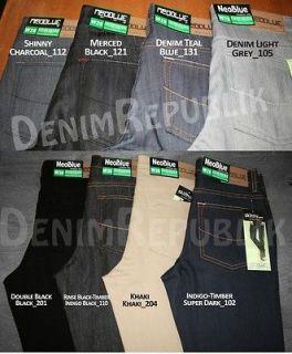 Neo Blue Skinny Jeans Rigid Dark Blue, All Black, Khaki, Rinse Blk