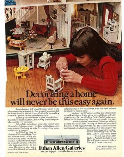 74 Ethan Allen Galleries Ad~Doll House Furniture Pictd