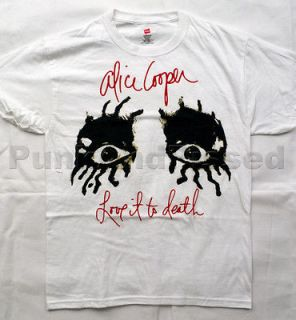 Alice Cooper   LITD Eyes white t shirt   Official   FAST SHIP