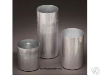 Round Pillar Seamless Aluminum Candle Molds 4 inch size (You Choose