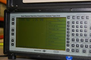 Bruel & Kjaer 2144 Dual Channel Real Time Frequency Analyzer + ZN 0621