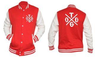 Taylor Gang College Baseball Jacket CROSS DESIGN 2 Wiz Khalifa NEW