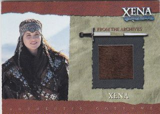 Xena Warrior Princess Authentic Piece of Xena Costume Material From