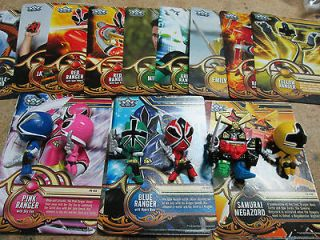 Power Rangers Samurai Trading Cards and Figure Set (All 6 Figures and