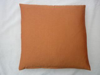 plain burnt orange faux silk scatter cushion cover in various sizes