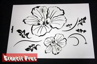 airbrush stencil Flower template Craft scrap book harley paint Stencil