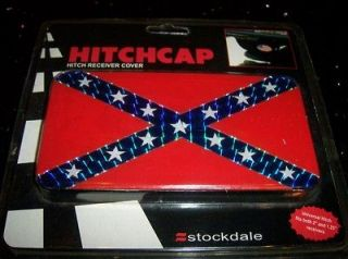 CONFEDERATE FLAG METAL HITCHCAP HITCH COVER CAR TRUCK HEAVY DUTY