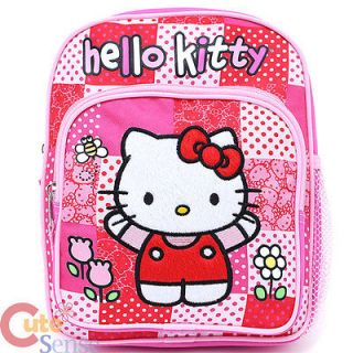 Sanrio Hello Kitty Toddler School Backpack 10 Small Bag   Pink Quilt