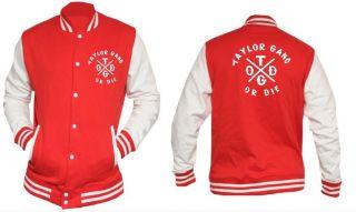 Taylor Gang College Baseball Jacket CROSS DESIGN 1 Wiz Khalifa NEW