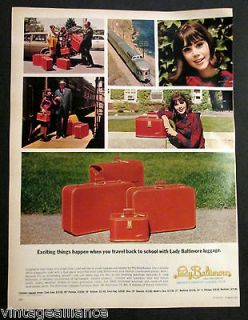 Vintage 1966 Pretty Colleen Corby on a Train w/ Lady Baltimore Luggage