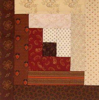 Jo Morton ANDOVER 12 Block Log Cabin PRE CUT Quilt Kit 29 x 39